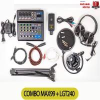 Combo Bộ Livestream Mixer MAX99 Micro LGT240