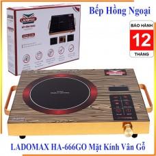 Bếp Hồng Ngoại LADOMAX HA-666GO Mặt Kính Vân Gỗ