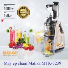 Máy ép chậm Matika MTK-3239 công nghệ ép thông minh giữ nguyên vẹn vitamin