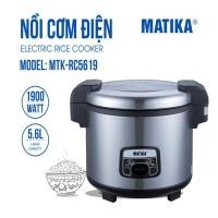 Nồi Cơm Điện Matika MTK-RC5619 (5.6L) công suất lớn chuyên dụng nhà hàng, bếp ăn tập thể