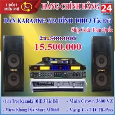 Dàn Karaoke Gia Đình DHD 3 Tấc Đôi